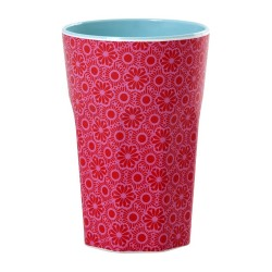 Melamine latte cup - red and pink