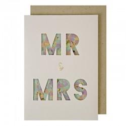 Biglietto di congratulazioni agli sposi