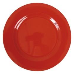 Piatto piano in melamina Rice - rosso