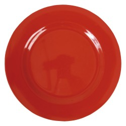 Round dinner plate - red