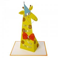 Biglietto Buon Compleanno con giraffa