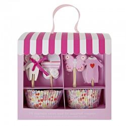 Decorazioni cupcake con pirottini, bimba