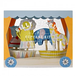 Decorazioni cupcake con pirottini, circo
