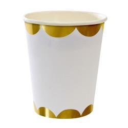 Bicchieri di carta dorati