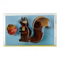 Stampini a forma di scoiattolo con noce