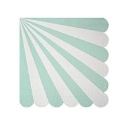 Tovagliolini di carta a righe verde acqua