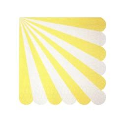 Tovagliolini di carta a righe gialle