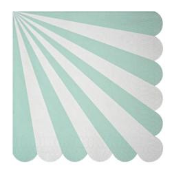 Tovaglioli di carta a righe verde acqua