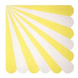 Tovaglioli di carta a righe gialle
