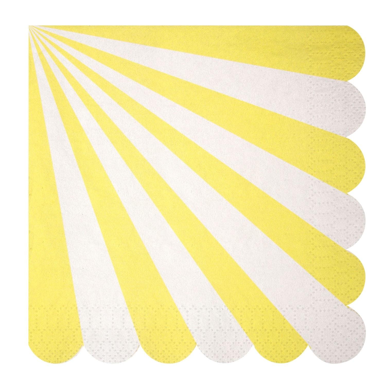 Tovaglioli di carta a righe gialle gallinasmilza for Carta adesiva a righe