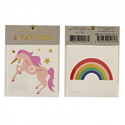 Tatuaggi temporanei, unicorno e arcobaleno