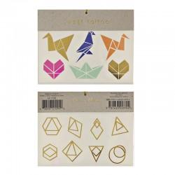 Tatuaggi temporanei, origami geometrici