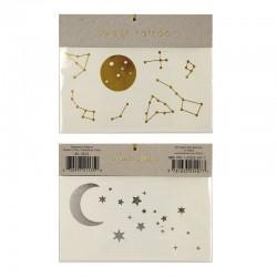Tatuaggi temporanei, luna e stelle