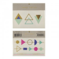 Tatuaggi temporanei, triangoli e forme geometriche