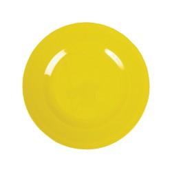 Piatto frutta tinta unita - giallo