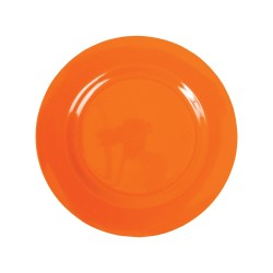 Piatto frutta tinta unita - arancio