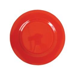 Piatto frutta tinta unita - rosso