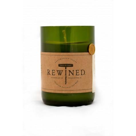 Candela in bottiglia di vino
