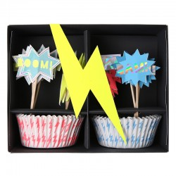 Kit per cupcakes supereroi