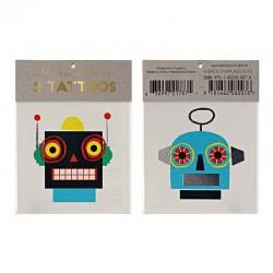 Tatuaggi temporanei, robots colorati