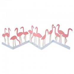 Biglietto di auguri, flamingos