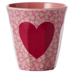 Melamine cup two tone with heart - Limited edition for Valentine's Day