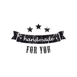 "Timbro vintage ""Handmade for you"""