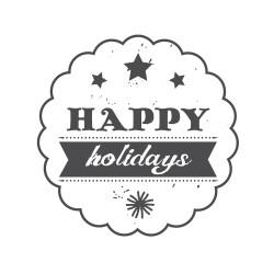 """Timbro """"Happy Holidays"""""""