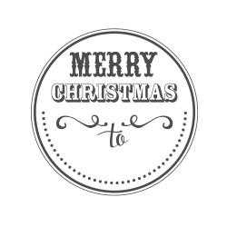 """Timbro """"Merry Christmas to"""""""