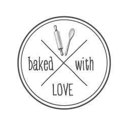 "Timbro ""Baked with love"""