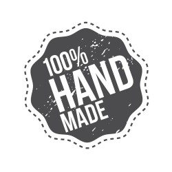 "Timbro ""100% handmade"""
