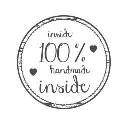 "Timbro ""Inside 100% handmade"""