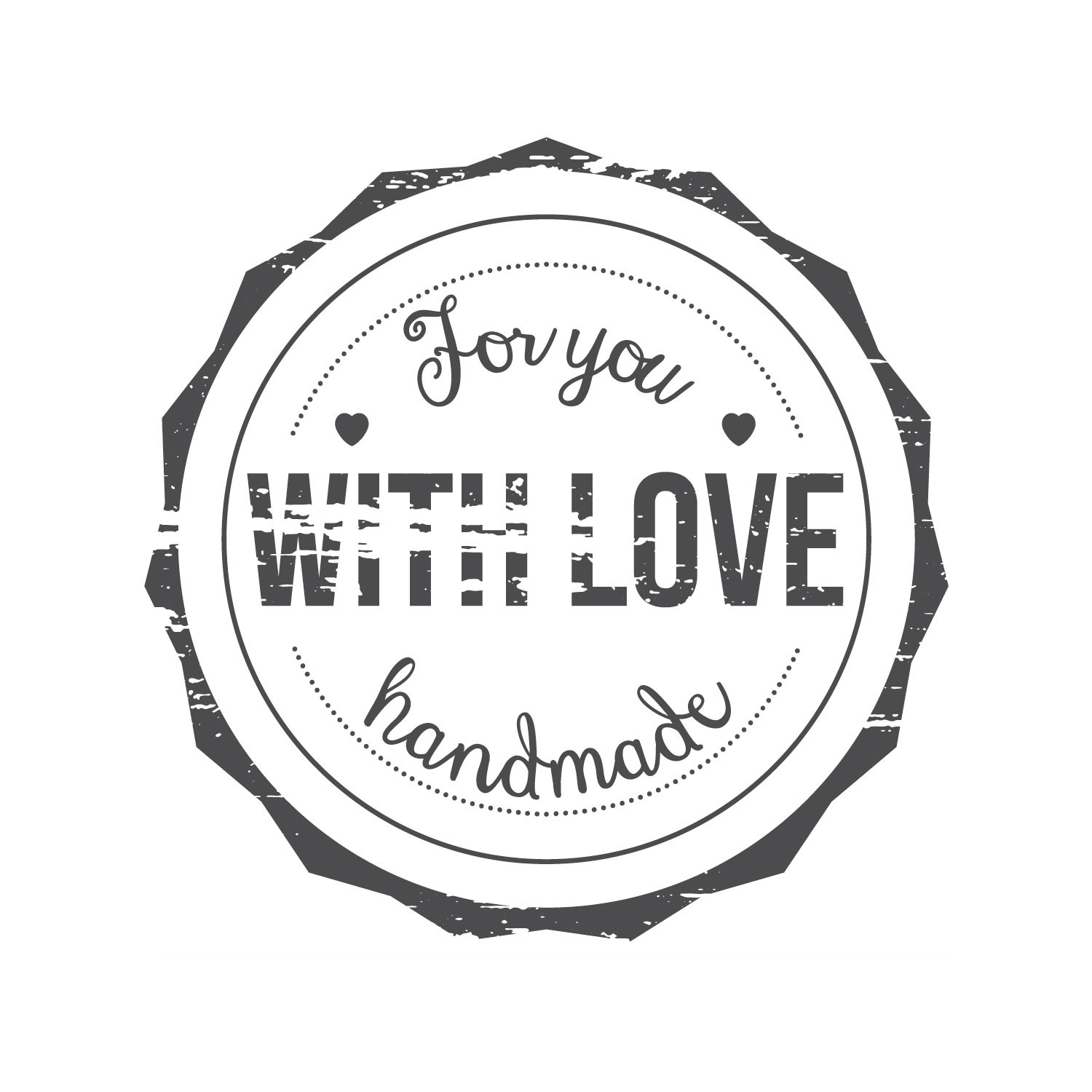 for you handmade with love stamp gallinasmilza