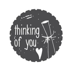 """Timbro """"Thinking of you"""""""