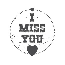 """Timbro """"I miss you"""""""