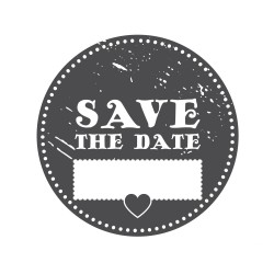 "Timbro ""Save the date"""