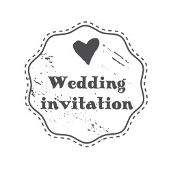 "Timbro ""Wedding invitation"""