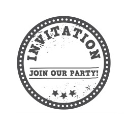 """Timbro """"Join our party"""""""