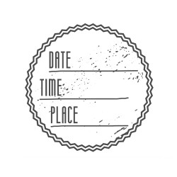 "Timbro ""Date Time Place"""