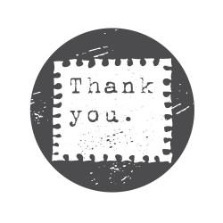 """Timbro """"Thank you"""""""