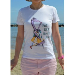 "T-shirt donna ""EaT Drink BooGie RePeat"""