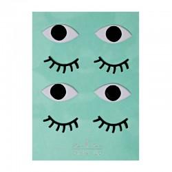 Stickers adesivi occhi e ciglia