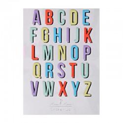 Stickers adesivi dell'alfabeto