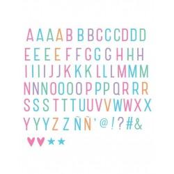 Lettere e simboli pastello