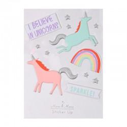 Stickers adesivi unicorni