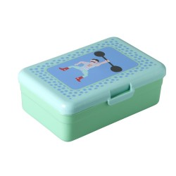 Large aqua lunch box