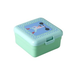 Small aqua lunch box