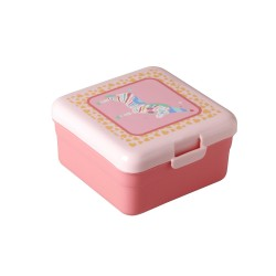 Small coral pink lunch box