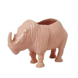 Rinoceronte portafiori corallo
