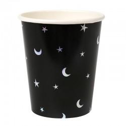 Bicchieri di carta con fantasia stelle e lune